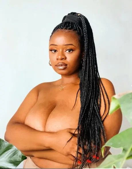 Pictures: Influencer Thickleeyonce serves Mzansi with n#des
