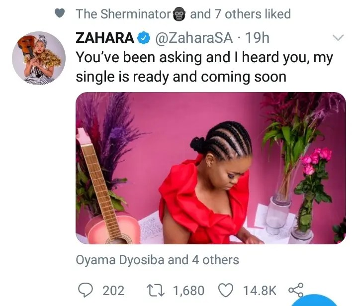 The wait is finally over as Zahara prepares to drop new music