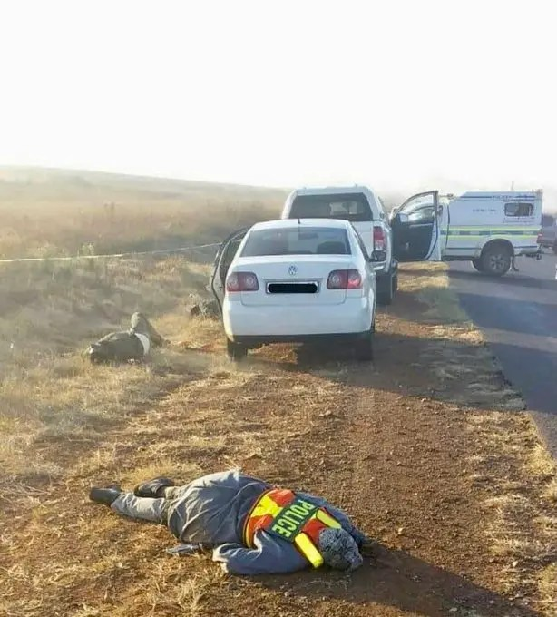 Car hijacking gone wrong as gang dressed in police uniform is killed after a shootout with the police
