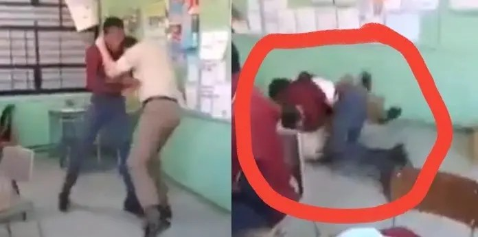 Video: Teacher and student fistfight in classroom flood social media