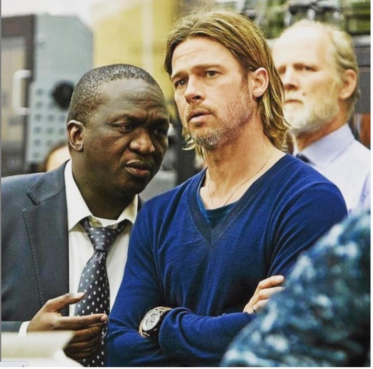 Fana and Brad Pitt