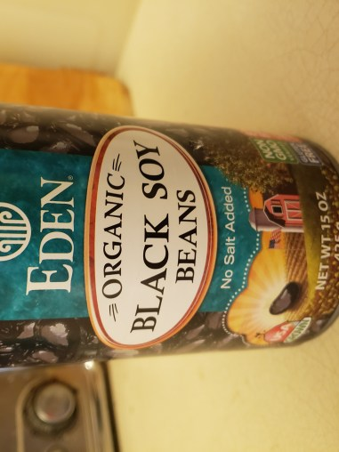 A can of Eden Organic black soybeans.