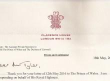 20160518 HRH Prince Charles (short summary)