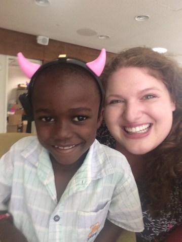 Devils' horns! (Abdul from Tanzania)