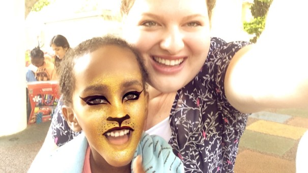 Trying out some Snapchat filters with Asma from Ethiopia