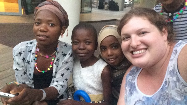 All smiles with Paulina and Sheila from Tanzania and Nazifa from Ethiopia