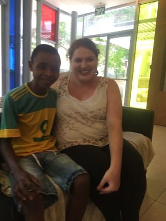 Hanging out with Rashidi from Tanzania