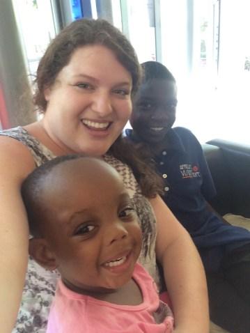 Lounging around with Antony from Zambia and Samira from Tanzania
