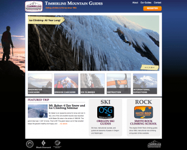 Timberline Mountain Guides site by Stacy Desmond of Saveda Web Strategies