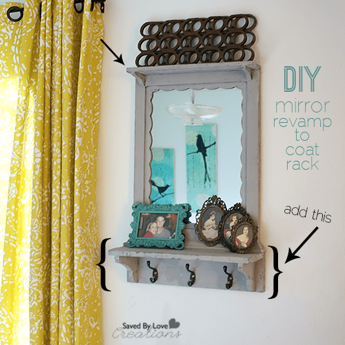 Revamp A Mirror Into A Coat Rack For Your Entryway