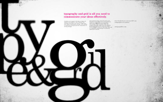 Wallpaper: freakyframes - type and grid