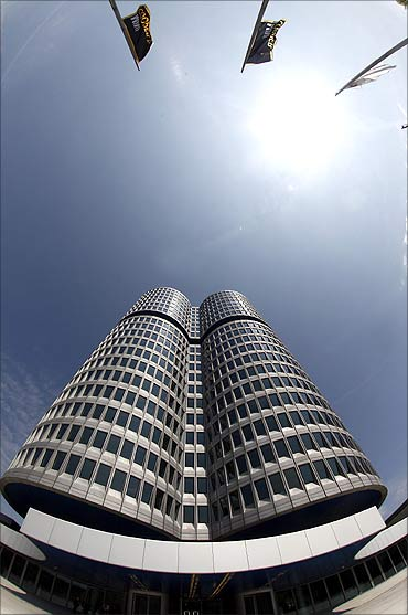 Headquarters of German luxury carmaker BMW in Munich.