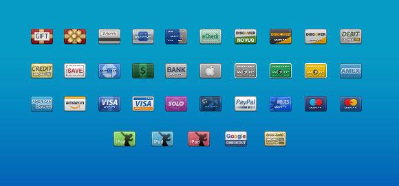 Credit Card Icons some আইকনের মেলা