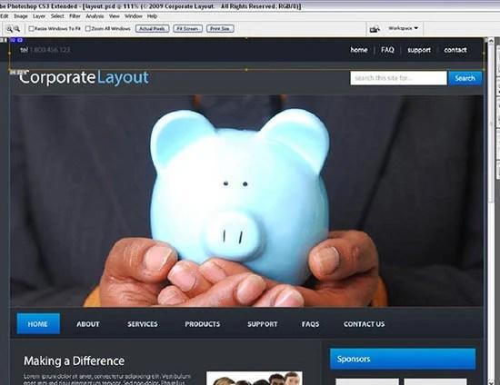 Corporate WordPress Style Layout
