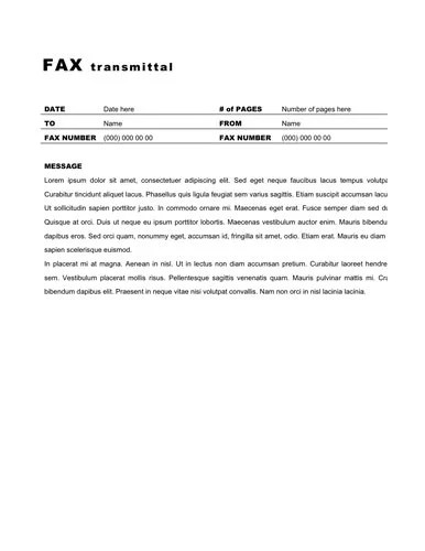 Fax Cover Sheet Message Sample  Cover Letter Sample