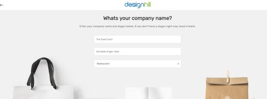 Entering Slogan & Industry Type