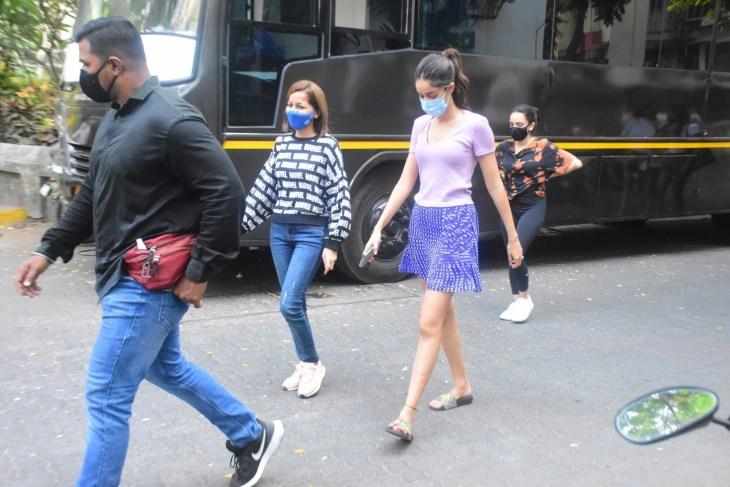 Ananya Panday Snapped On Location Shoot In Bandra