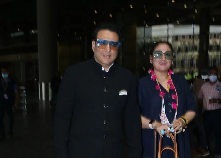 Govinda & Wife Sunita Ahuja Spotted at Airport