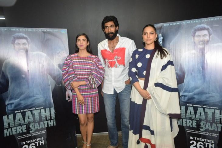 Haathi Mere Saathi Movie Promotion At Eros Office In Andheri