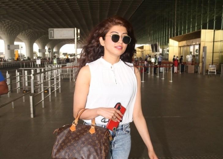 Pranitha Subhash Spotted at Airport Departure