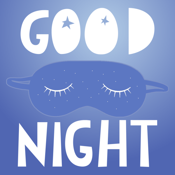 Good Night Sleeping Mask With Closed Eye On Mask
