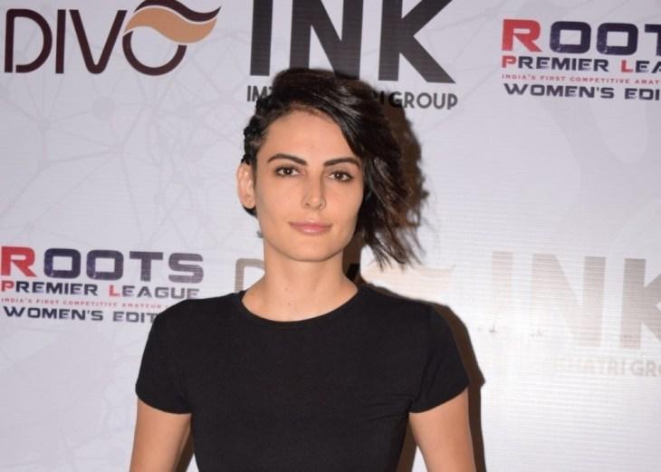 "Mandana Karimi at the opening ceremony of ""Women Roots Premier League"" in Mumbai"