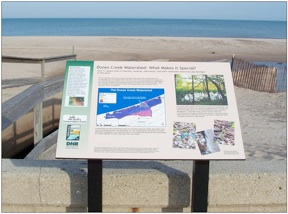 dunes creek signs at state park