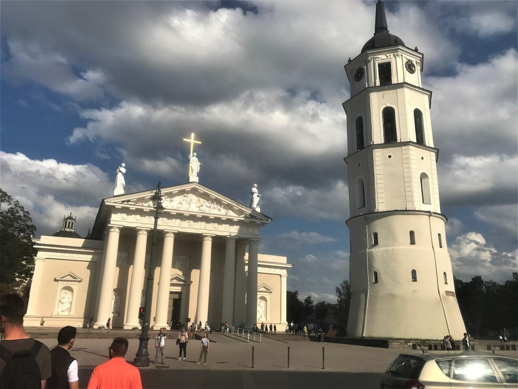 Cathedral Square with Bell Tower in Vilnius Old Town