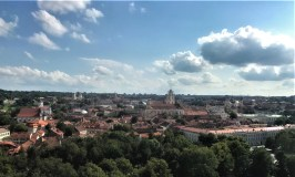 View over Vilnius' Old Town from the Gediminas Tower