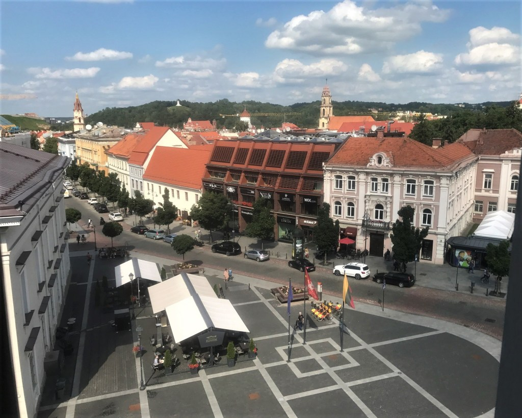 Town Hall Square in Vilnius Old Town