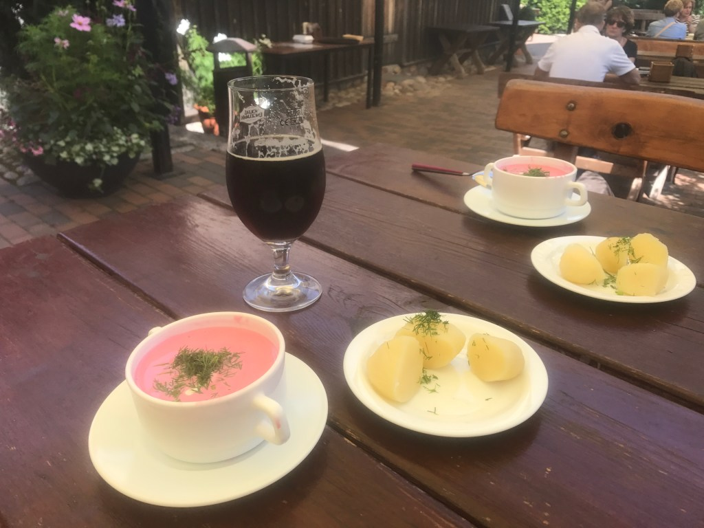 photo of traditional Lithuanian cold beetroot soup
