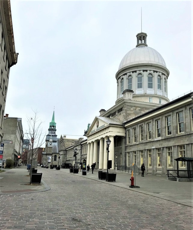 St. Paul Street & Bonsecours Market in Old Montreal