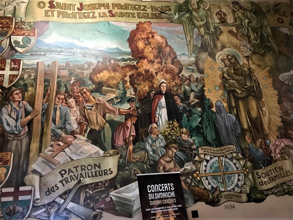 St. Joseph Oratory wall murals