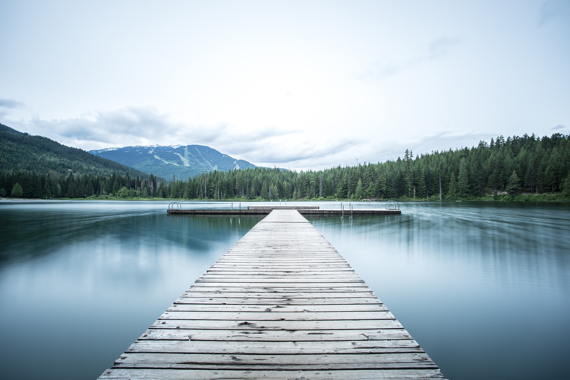 long pier on the lake - retirement security
