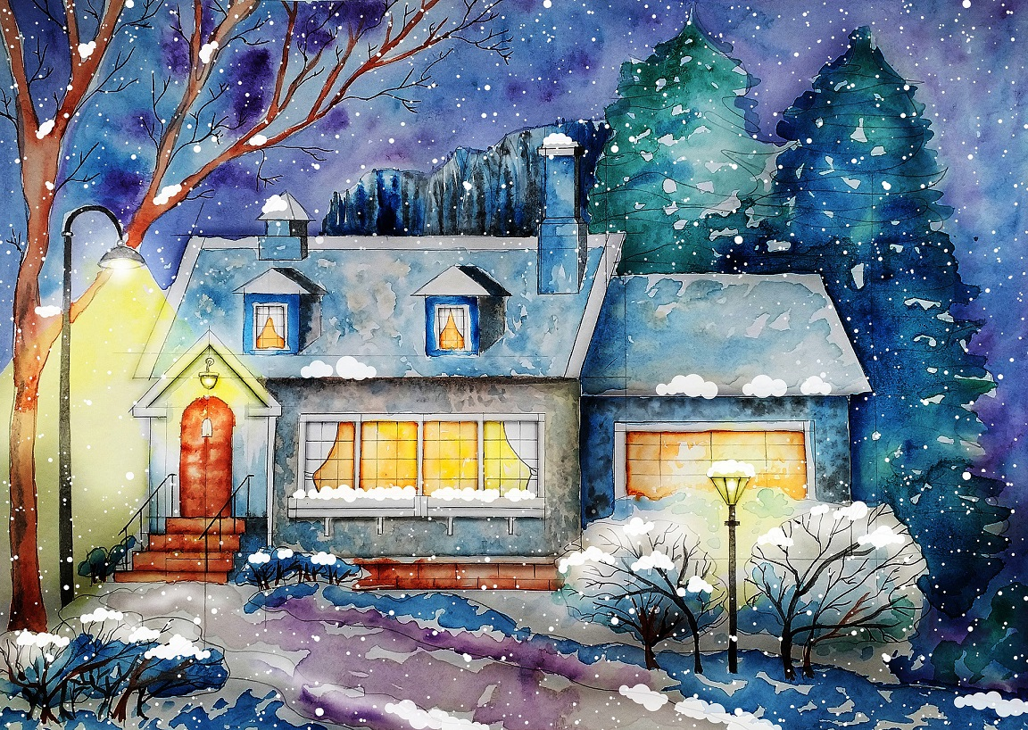 Christmas cottage - sending holiday cards - holiday bucket list