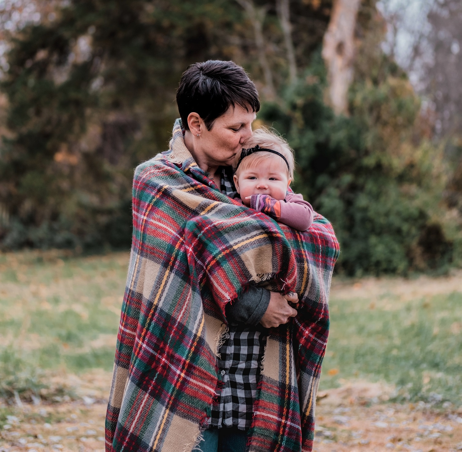 women with a small child in hands - semi-retirement