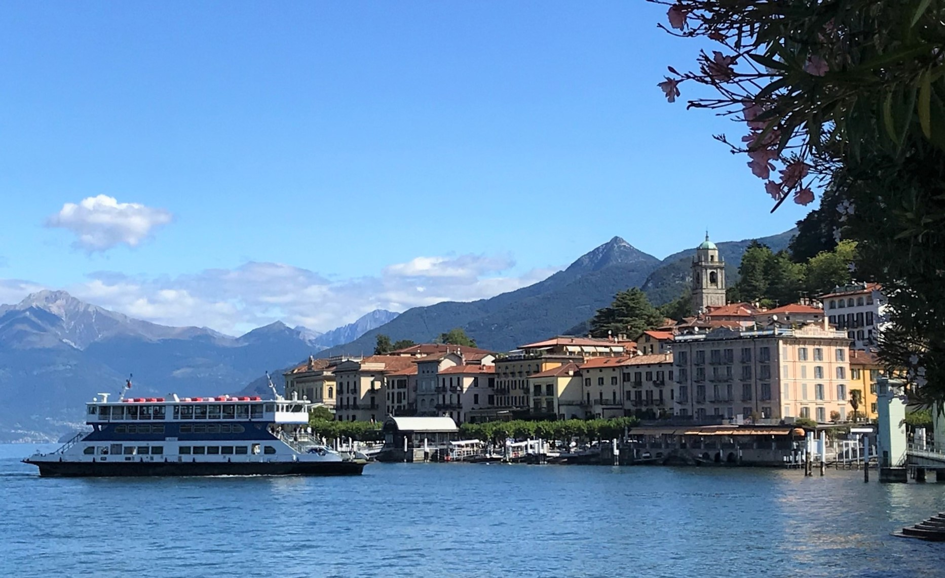 Lake Como in Italy and local ferry - best towns to visit on Lake Como