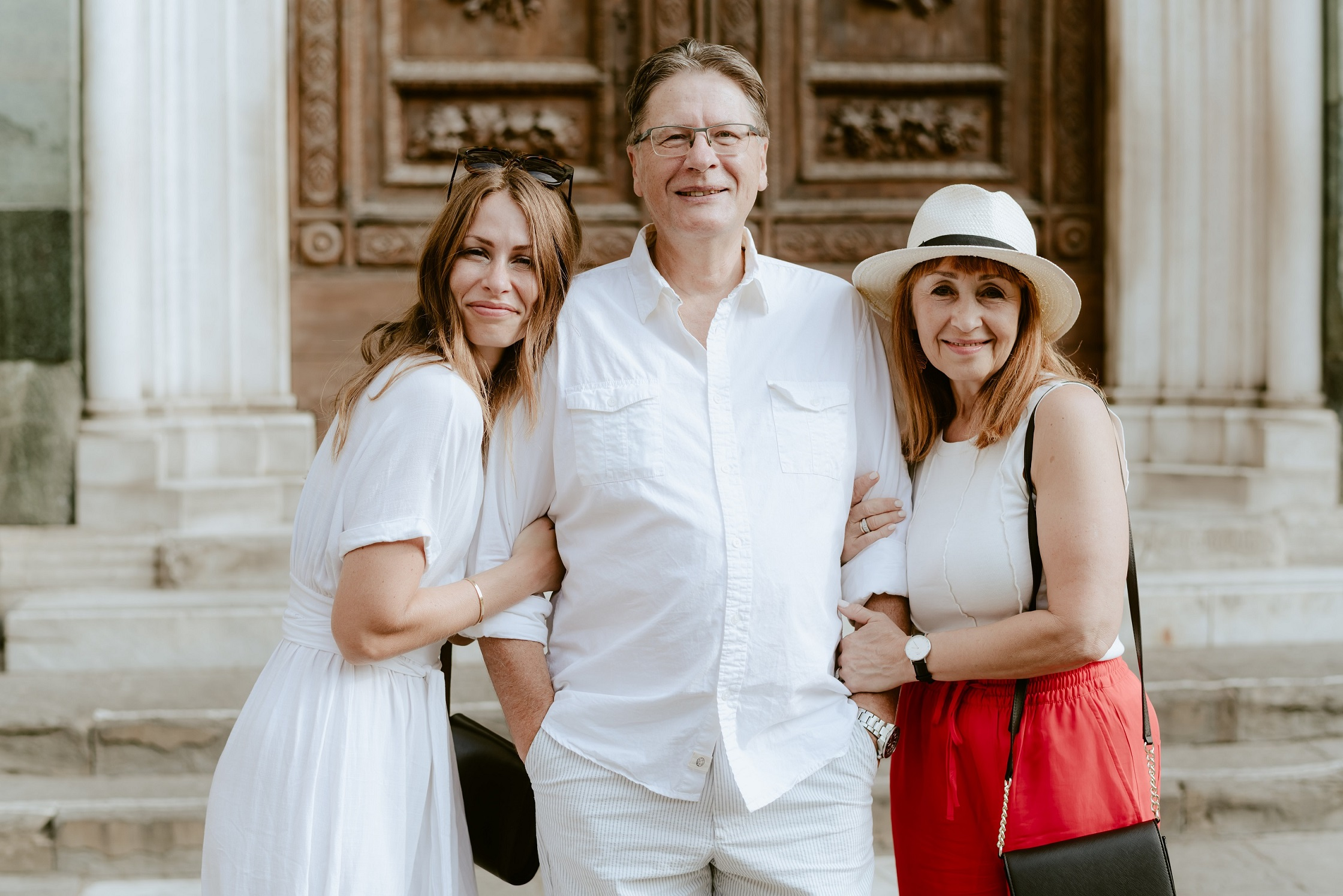 Maggie, Roman and Ksenia - family photo-about page