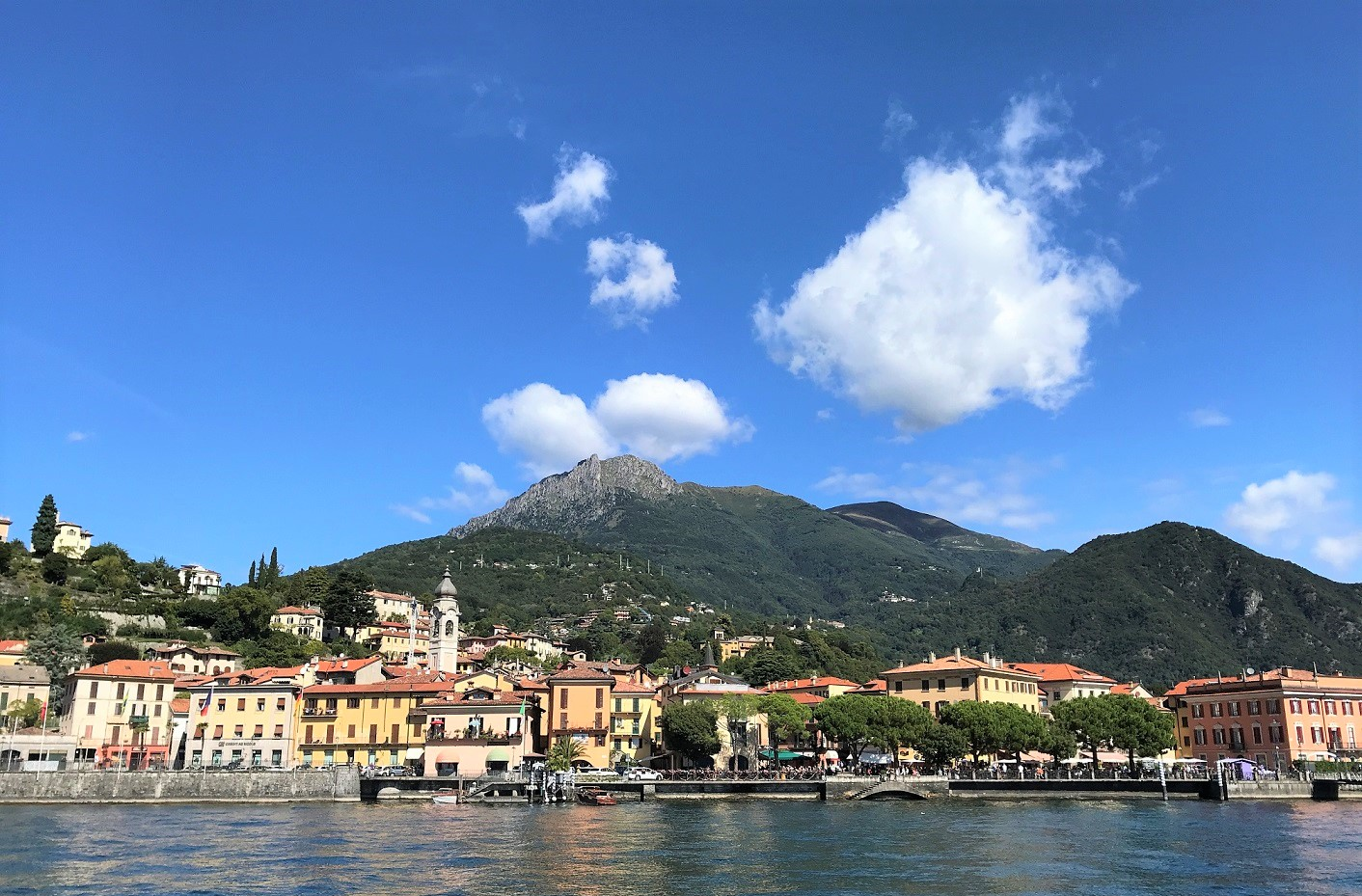 Menaggio from the boat - best towns to visit on Lake Como