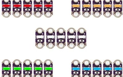 25PCS Lilypad LED rosso, arancione, giallo, verde, blu x5 per Arduino IDE…