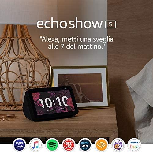 Echo Show 5 – Schermo compatto e intelligente con Alexa, Nero