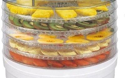 Essicatore Per Funghi, Verdure E Frutta ELDOM SG200N Crusty, 5 Vassoi Di Di…