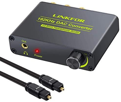 LiNKFOR Convertitore DAC 192KHz Audio Decoder Volume Regolabile Supporta...