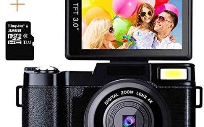 Macchina Fotografica 24MP Digitale Videocamera Full HD 1080P 2.7K 3.0…