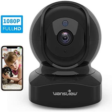 Videocamera WiFi, Wansview FHD 1080P Telecamera di Sorveglianza WiFi con...