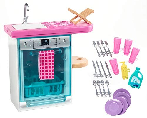 Barbie Set di Arredamenti da Interno, con Lavastoviglie, Sportello...