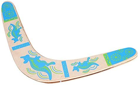 Boomerang di Legno Blu Throwback V a Forma di Boomerang Flying Disc Throw...