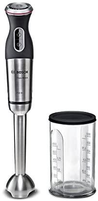 Bosch MSM87110 Mixer a Immersione, 750 W, 0.8 Litri, 1 Decibel, Acciaio...