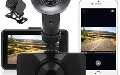 FREESOO WIFI Telecamera Per Auto Doppia Lente Davanti e Dietro Dashcam con…