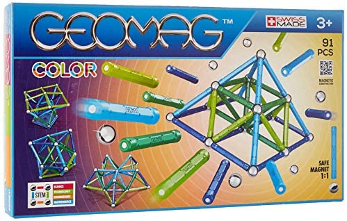 Geomag- Color Gioco di Costruzione con Sfere e Barrette, Multicolore, 91...